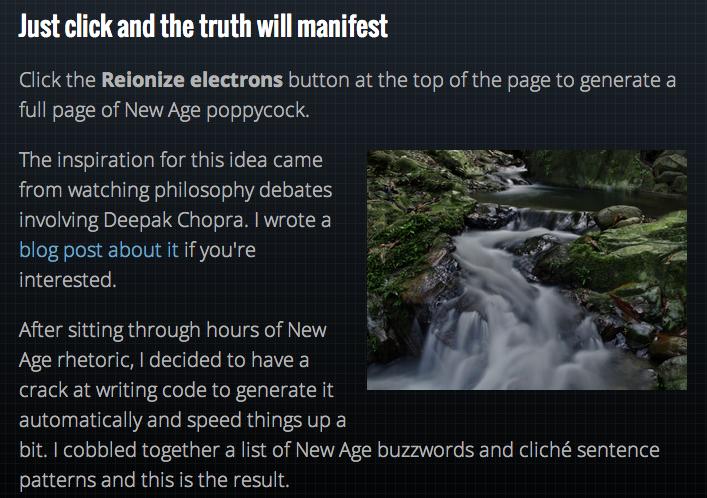 New Age Bullshit Generator