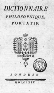 [A scan of the cover page of the 1764 edition of Voltaire's 'Dictionnaire philosophique'.]