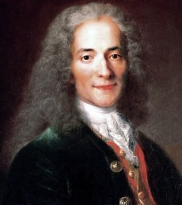[A painting of Voltaire.]