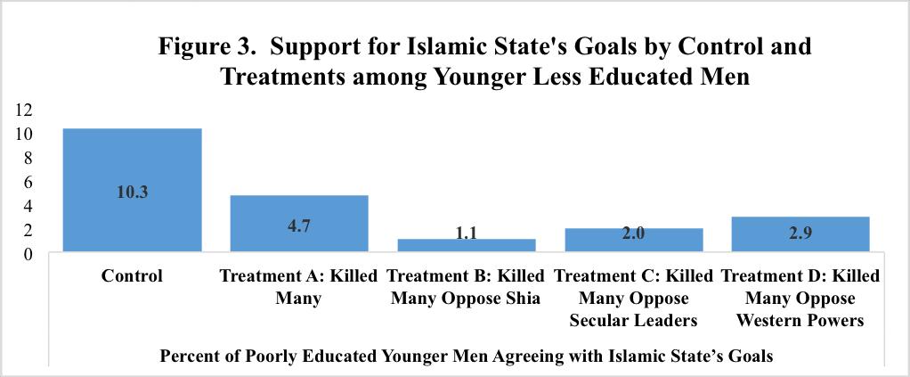 2016 Arab Barometer Daesh survey experiment results