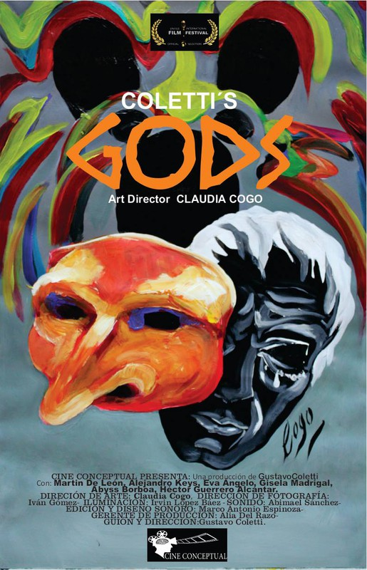 "[Poster for Gustavo Coletti's film ""Gods"".]"