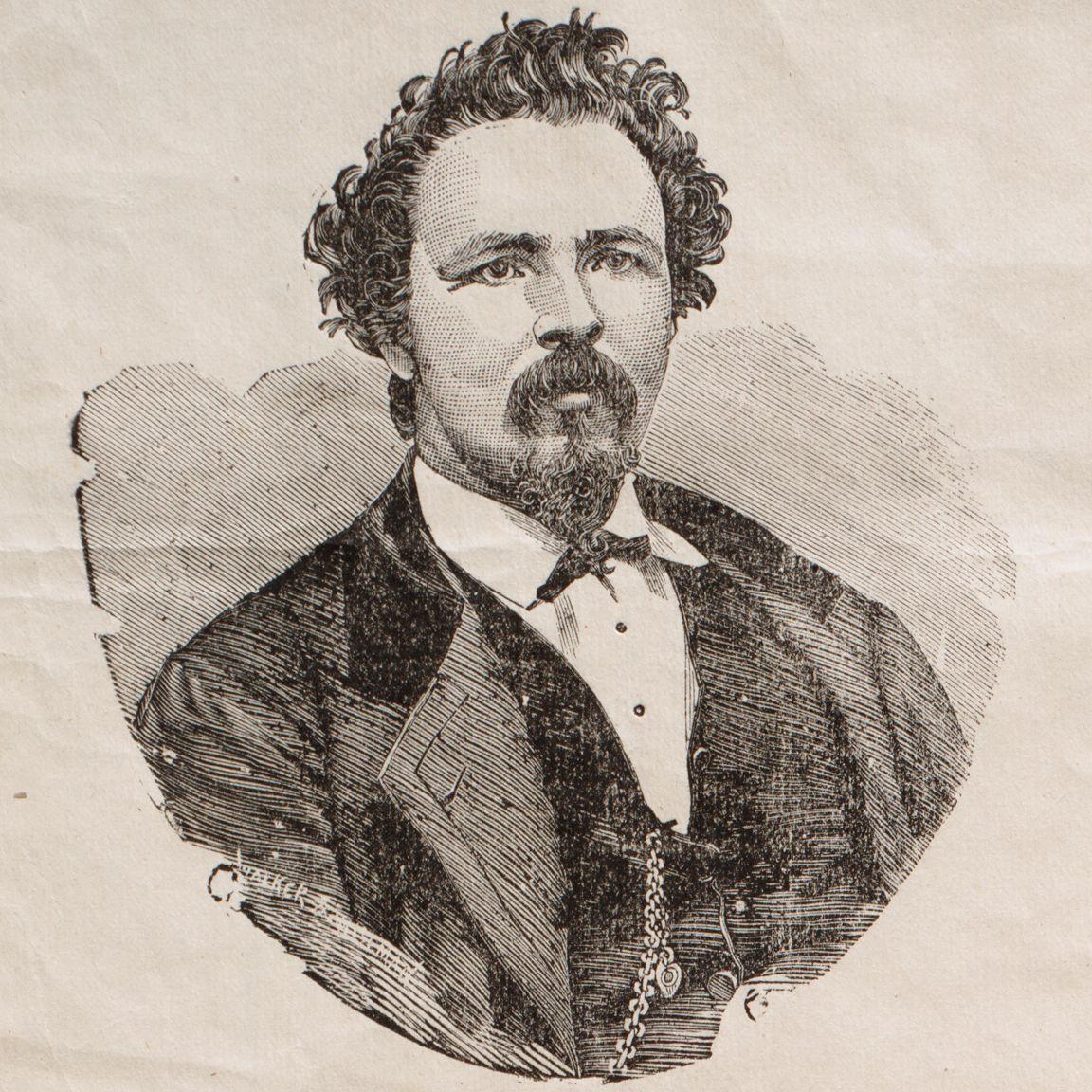 """[Drawing of Charles """"Joe Beef"""" McKiernan.]"""
