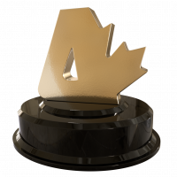 [Canadian Atheist award statuette]