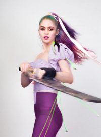 [A photo of Canadian musician Grimes]